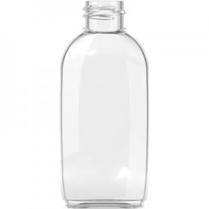 Φιάλη πλαστική PVC διάφανη OVAL 50ml 20