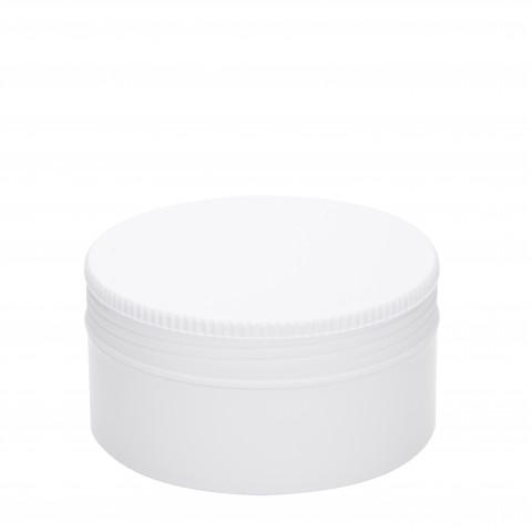 Βάζο πλαστικό ΛΕΥΚΟ FLAT 200ml complete
