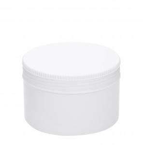 Βάζο πλαστικό ΛΕΥΚΟ FLAT 250ml complete