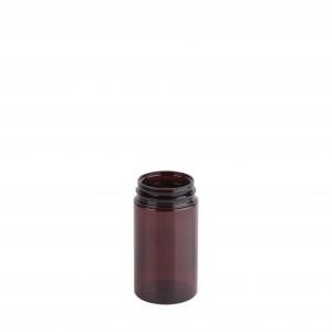 Βαζο πλαστικό pet καραμελέ Pill Jar 150ml με πώμα λευκό ασφαλείας